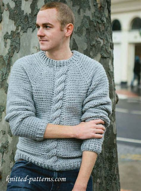 mens sweater knitting pattern s pullovers and sweaters knitting patterns