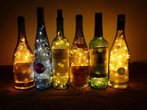 lights inside wine bottle wine bottle lights by hiddendemon 666 on deviantart