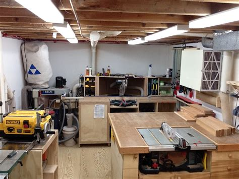 how to setup a home woodworking shop marcel s basement shop the wood whisperer