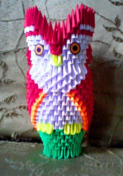 3d origami owl owl on a perch album mohammad nofal 3d origami