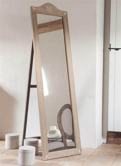 miroir sur pied bois flotte mzaol
