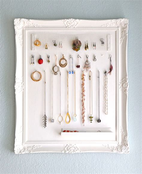 how to make jewelry holder picture frame 23 jewelry display diys sincerely yours