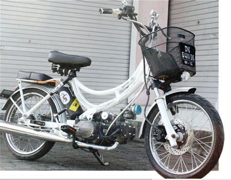 Modifikasi Motor Model Sepeda by Bebek Modif Racinginjectedbali