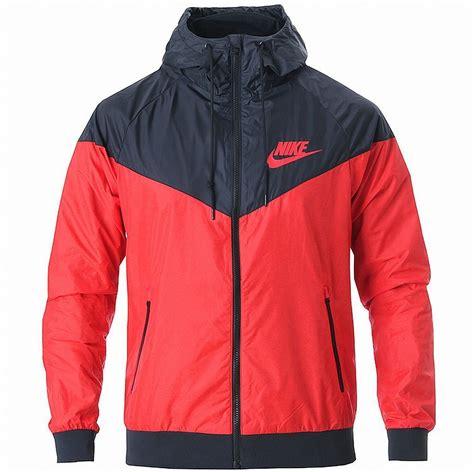 wind breaker nike windrunner hoody jacket black windbreaker