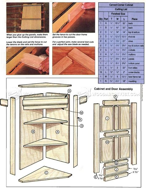 corner cabinet woodworking plans carved corner cabinet plans woodarchivist