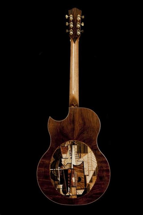 picasso paintings guitar mcpherson guitars mosaic on the back is based on picasso s