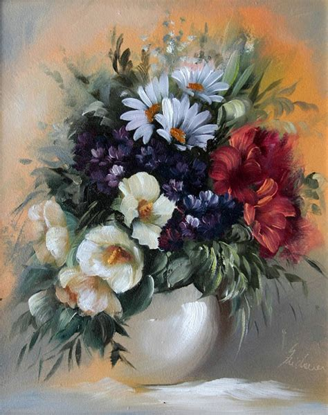 flower painting pictures 20 beautiful bouquet and flower paintings by szechenyi