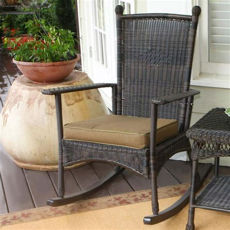 outdoor wicker chairs tortuga outdoor portside classic wicker rocking chair