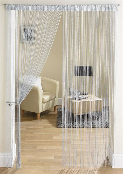 string curtains glam grey string curtain from net curtains direct