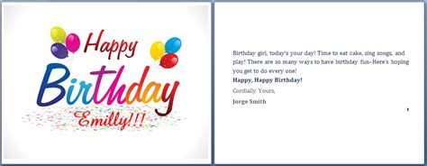how to make a birthday card on microsoft word ms word happy birthday cards word templates ready made