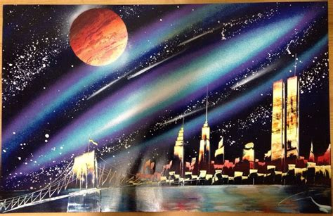 spray painter nyc spray painting of new york skyline spray paint in