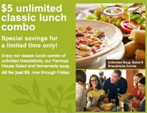 the olive garden specials olive garden lunch specials hurry ends tomorrow