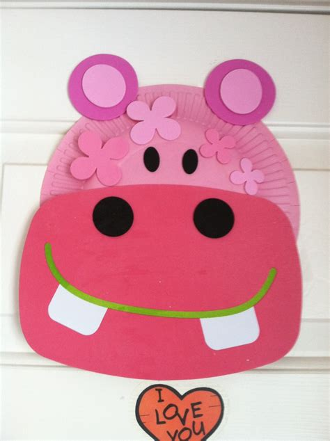 hippo paper plate craft hippo arts and crafts