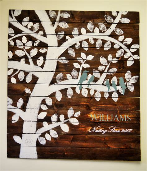 family woodworking white family tree nesting birds diy projects