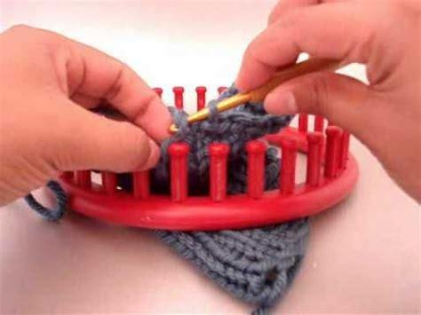 binding knitting loom bind single crochet for my fingerless gloves loom