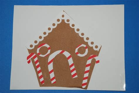 gingerbread house craft for craft gingerbread house greeting card on as we grow