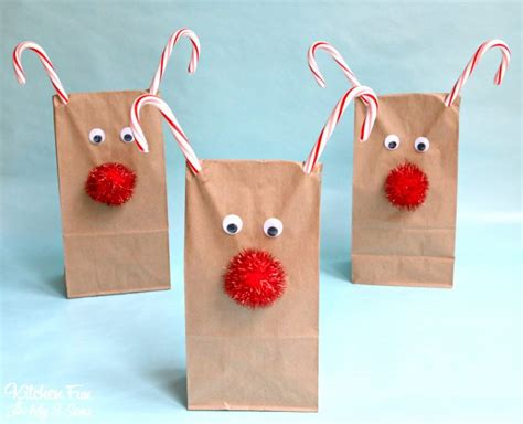 reindeer paper bag craft reindeer treat bags kitchen with my 3 sons