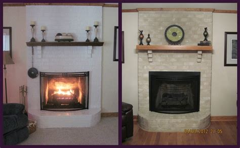 paint colors for fireplace brick fireplace makeover for season brick anew