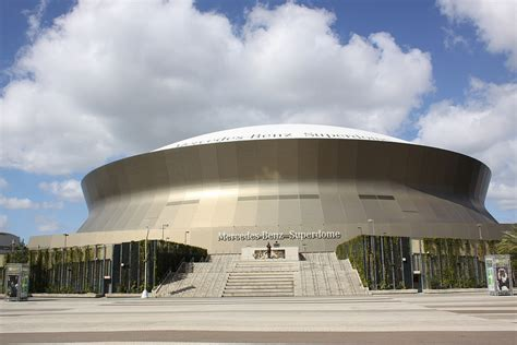 Where Is The Mercedes Superdome by Mercedes Superdome New Orleans Saints Football