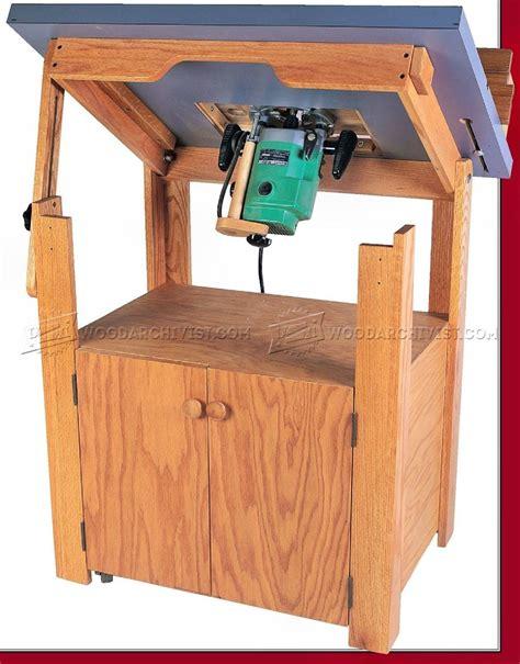 router table woodworking plans tilt top router table plans woodarchivist