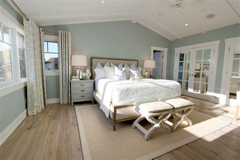 paint colors for rooms with lots of light steely light blue bedroom walls wide plank rustic wood