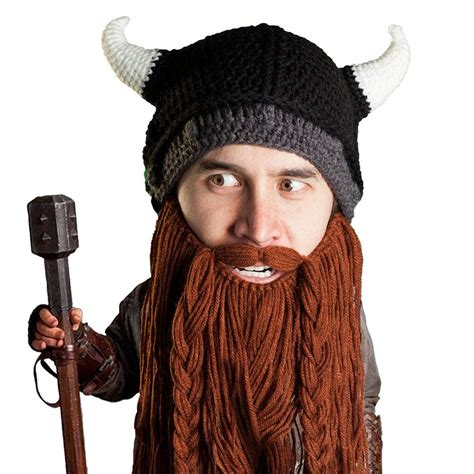 knitted beard viking knit beard hat beard beard 174