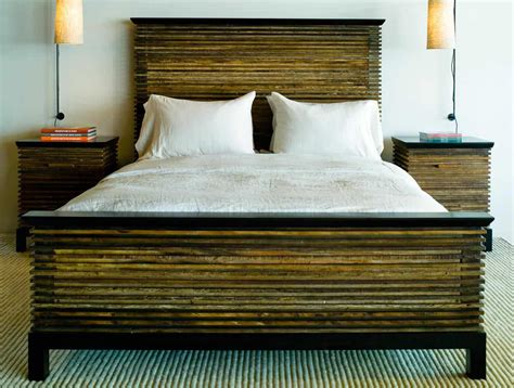 lotus bed frame contemporary bed in reclaimed wood lotus