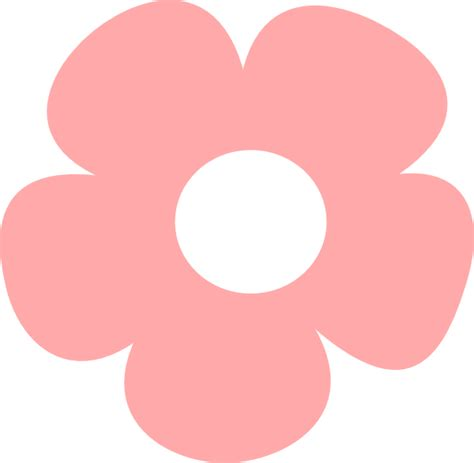 flower simple simple pink flower clip at clker vector clip