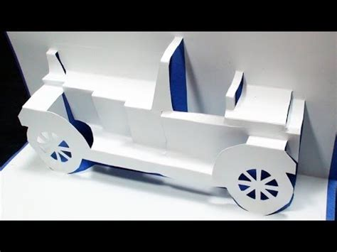 how to make a car card how to make a classical car pop up card free template