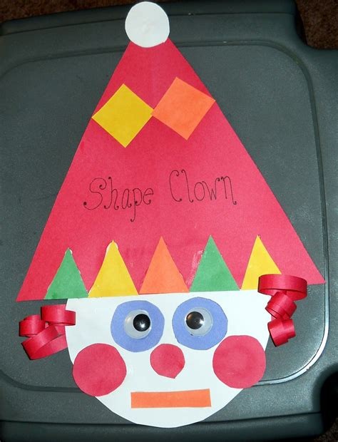 craft work for kindergarten shapes craft triangle circle square rectangle