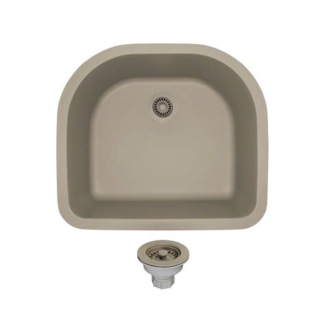 slate kitchen sink mr direct all in one undermount composite 25 in single