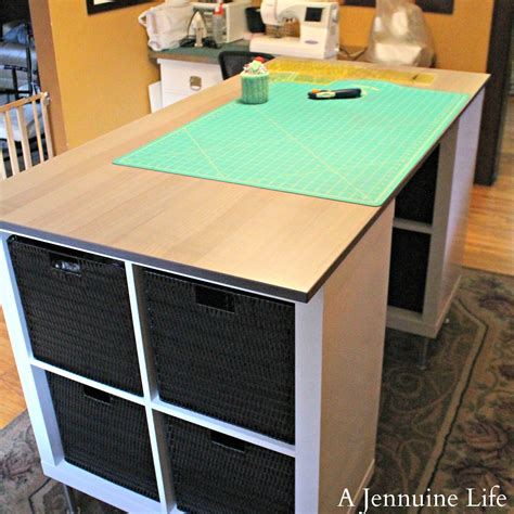 craft table diy counter height craft table a jennuine