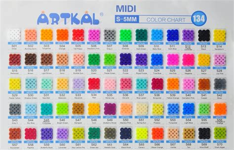 perler bead color chart bead color charts bakers kidscrafts