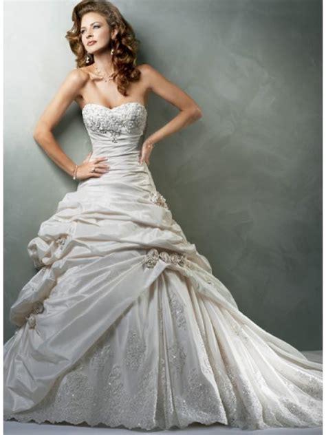 wedding dresses with beading sweetheart strapless applique beaded taffeta a line