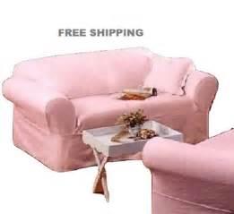 pink sofa slipcover ashwell sofa slipcover pink denim simply shabby