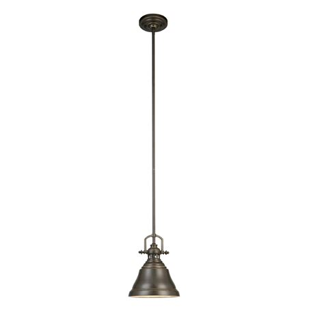 allen roth pendant light shop allen roth 8 in w bronze mini pendant light with