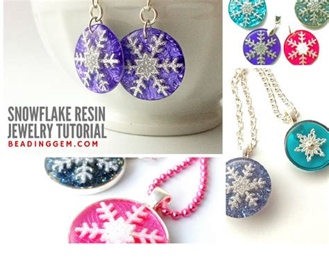 what do i need to make resin jewelry how to make snowflake resin jewelry tutorial the beading