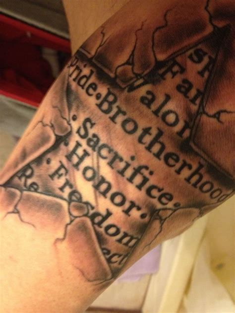 usmc moto tattoo star sacrifice semperfi
