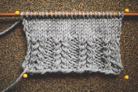 right twist knitting five fancy ribs strong and sturdy edition