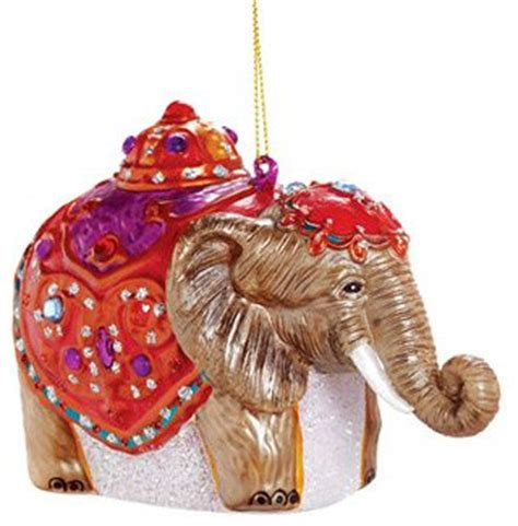 elephant tree decorations glass elephant ornament asian ornaments by