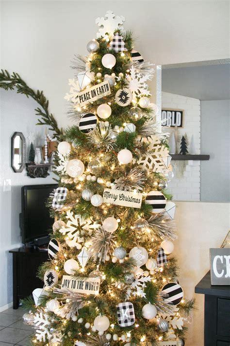 white tree decor black white tree decor