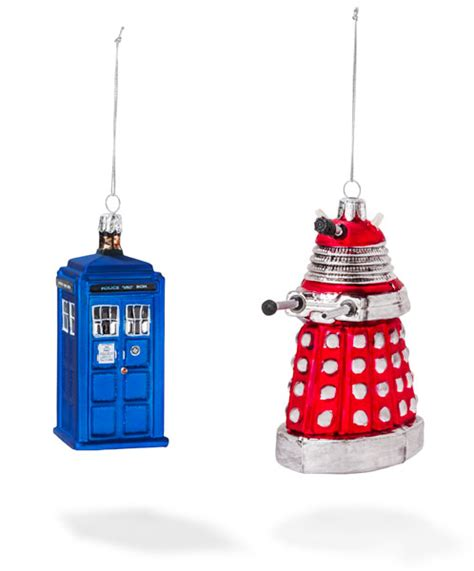 doctor who tree ornaments doctor who tardis dalek and cyberman tree