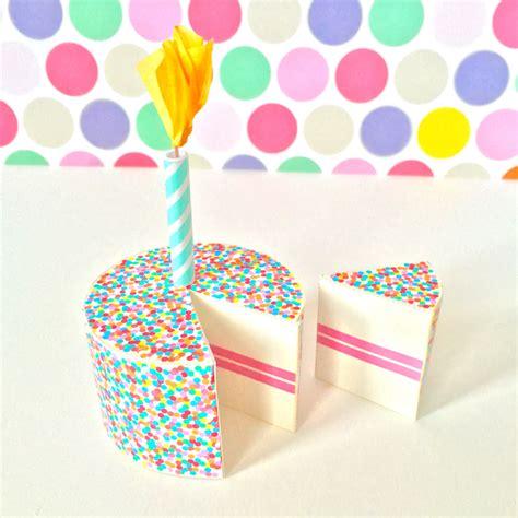 paper birthday cake craft birthday cake printable papercraft