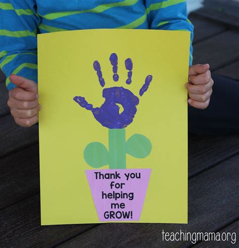thank you crafts for thank you for helping me grow craft