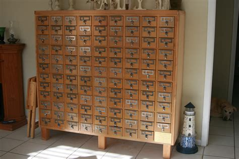 how to make a card catalog cabinet card catalog for sale in florida a 107 drawer from