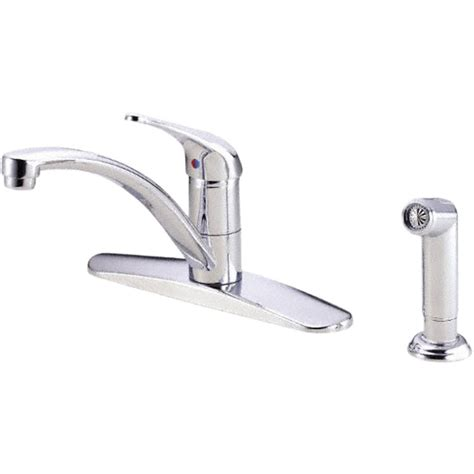 danze kitchen faucets danze d407112 chrome kitchen faucet w spray plumbersstock