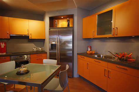 peinture cuisine orange et gris cuisine nous a fait 224 l aise dans le processus de nourriture