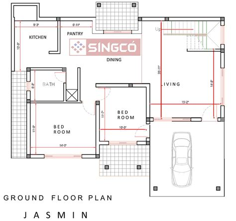 house pland plan singco engineering dafodil model house