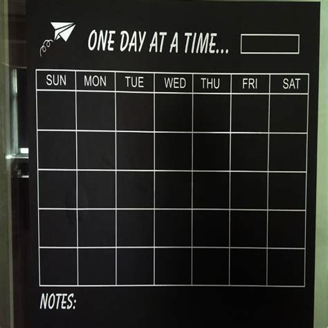 diy chalkboard sticker vinyl diy weekly chalkboard calendar blackboard sticker