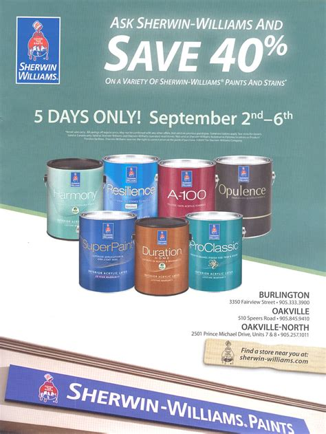 sherwin williams paint store ontario ca sherwin williams paint sale 40 sept 2 6
